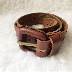 Accessories - Brown genuine leather belt size w. 28/small
